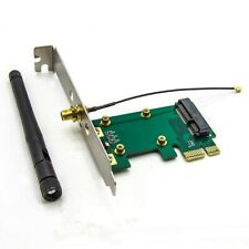 Wireless LAN Mini PCI-E Card to PCI-E PCI Express Converter Adapter Antenna WiFi