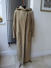 Russian Designer Long Camel 100% Wool Fully Lined Coat, UK Size 12/14