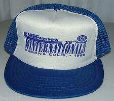 Vintage Winston Winternationals Cheif Auto Parts Pomona CA NHRA Snapback Hat Cap