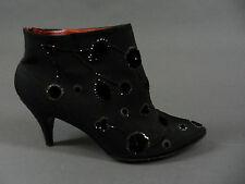 Vtg 50s Fenton Last Saks Fifth Avenue Rhinestone Velvet Heels Ankle Boots 6