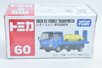 Tomica No.60 ISUZU ELF VEHICLE TRANSPOTER scale Toy Car Unopened