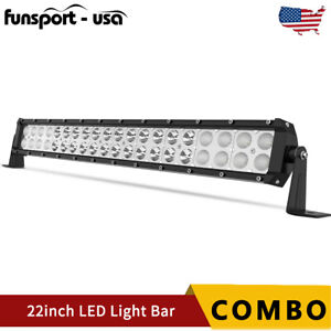 "22INCH 120W LED LIGHT BAR Spot Flood Combo Fits Ford Offroad Truck SUV ATV 24""in"