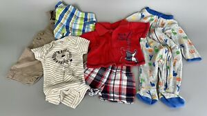 BABY BOY SUMMER Clothes Size 0 to 3 Month LOT Of 6 Pieces Shorts Overalls EUC