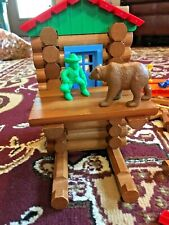 Lincoln Logs Mountain Top Hideout Wood 00859 + 90 Extras
