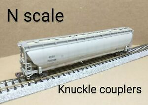 CITX covered hopper car N scale BLMA gray weathered Trinity 5660 PD pressure RR