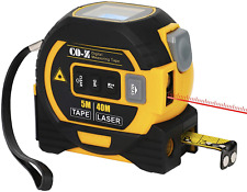 CO-Z 3 In 1 Digital Metric Laser Tape Measure, 5m Tape Measure 40m Laser Measure