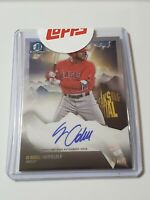 JO ADELL 2018 BOWMAN CHROME PEAKS OF POTENTIAL AUTO # 66/99 Los Angeles Angels