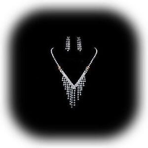 BRIDAL-  Boxed Crystal/Diamante Necklace Set**85**