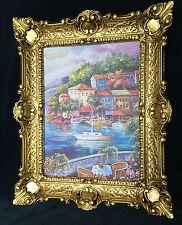 Bild Landschaft See/ Meer Kunstdruck 57x47 Wandbild mit Rahmen Segelschiff