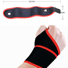 TB Weight Lifting Wrist Wraps Bandage Hand Support Brace Gym Training Fitness PR