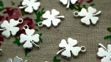Four leaf clover 20 charms pendant silver jewellery supplies C1057