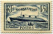 "FRANCE TIMBRE STAMP N° 299 "" PAQUEBOT NORMANDIE  1 F 50 BLEU 1935 "" NEUF x TB"