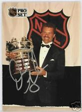 DIRK GRAHAM 1991 PRO SET CHICAGO BLACKHAWKS  AUTOGRAPHED HOCKEY CARD JSA