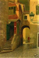 Calle a Treviso-PAESAGGIO-olio su faesite-1920.
