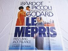 jean luc godard  brigitte bardot LE MEPRIS !  affiche cinema  _l