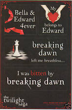 Twilight Saga Sticker Sheet Breaking Dawn Promo Edward Bella RARE New