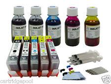 5 Refillable ink cartridge with chip HP 564 XL Photosmart C6380 C510a+5x4oz 1P