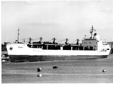 """Black/white ship photograph, 165mm x 215mm (6.5"""" x 8.5""""), TESABA in River Medway"""