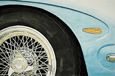 """Lambo Wheel"" watercolor painting original 40""X60"" Painting"