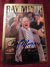 RAY MEYER AUTOGRAPH CARD. DEPAUL NCAA NBA BASKETBALL HOF HALL OF FAME NOTRE DAME