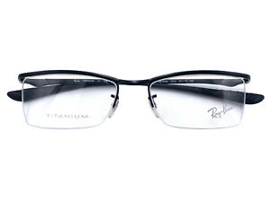 Ray-Ban Eyeglasses RX RB 8706 1012 52-17 Black Titanium Semi Rimless