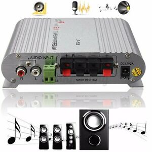 New Lvpin Mini Hi-Fi 2.1 Stereo  Amplifier Radio MP3 200W 12V For Car Motorcyc