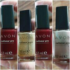 Four Brand New Avon Nail Varnishes - Romance x2, Golden Vision & Cherry Jubilee
