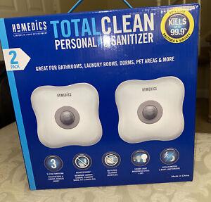 HoMedics, 2-Pack Total Clean UV Personal Air Sanitizer, Kills Bacteria & Viruses