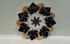 "A Meissen Antique Maple Leaf Gold and Cobalt Blue Cabinet Plate 9 1/2"""