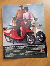 1983 Yamaha Motorcyle Motor Scooter Ad   The Riva 80