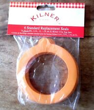 KILNER PACK OF 6 GENUINE NEW REPLACEMENT SEALS FOR CLIP TOP JARS 0.35L to 2L