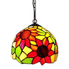 lampadario in stile Tiffany metallo e vetro colorato  mod.YDL006