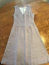 carolina herrera lavender silk/linen dress size 8