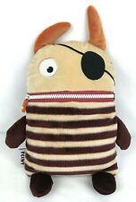 "Gerd Hahn's Worry Eaters Flint Pirate 13"" Plush Zipper Mouth Pouch Stuffed Toy"
