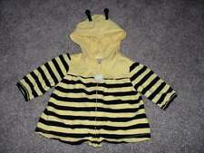 Gymboree Baby Girls Bee Chic Knit Hoodie Zip Cardigan Top Size 6-12 months mos