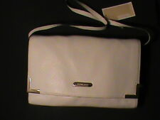 Michael Kors Beverly vanilla ivory real leather clutch shoulder purse gold NWT
