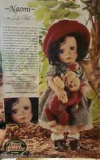 NAOMI by Linda Steele w/ her Sleepy Bear by Lorraine Chien. Cottage Collectibles