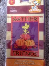 Snoopy Woodstock Fall/Autumn Large Decorative Flag 25 X 38 Gather Friends