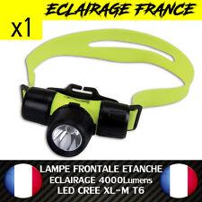 LAMPE TORCHE DE PLONGEE MARIN ETANCHE A 50M 4000 LUMENS LED CREE XL-M T6 HEAD