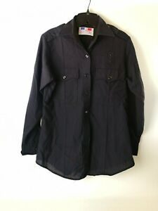 Flying Cross Uniform Long Sleeve Khaki Shirt Perma Press 36 Reg Black