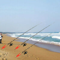 1Pc Red Sea Beach Fishing Rod Stand Rest Folding Spike Holder Sea Fishing Tackle