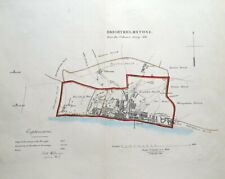 BRIGHTON, BRIGHTHELMSTONE, HOVE, Sussex, Street Plan, Dawson  antique map 1832