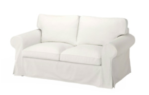 New Original IKEA cover set  Ektorp 2 seat loveseat  BLEKINGE WHITE 100%COTTON