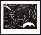 B Kliban Cat STAR ASTERISM CONSTELLATION CAT vintage funny cat art print