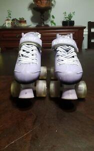 Pacer Comet Kids Roller Skates with Light Up Wheels* Purple Quad Skates Girls 2.