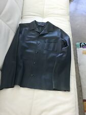 Prada Mens blue leather jacket. Size 52