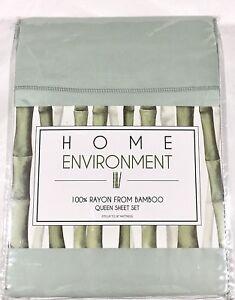 Sage Green QUEEN 100% BAMBOO Sheet Set Home Environment Silky x-Deep New