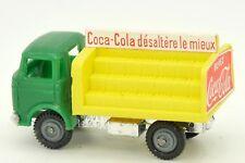 CLE 1/90 CAMION BERLIET GAK PLATEAU BRASSEUR COCA COLA