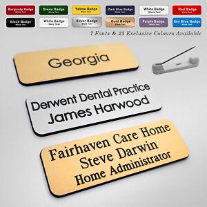PIN Custom Engraved Name Badge Deputy Manager Supervisor Team Leader + Fonts