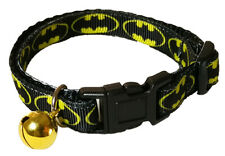 Spoilt Rotten Pets Quality Batman Cat Collar. Safety Buckle and Bell